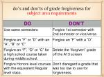 do s and don ts of grade forgiveness for subject area requirements