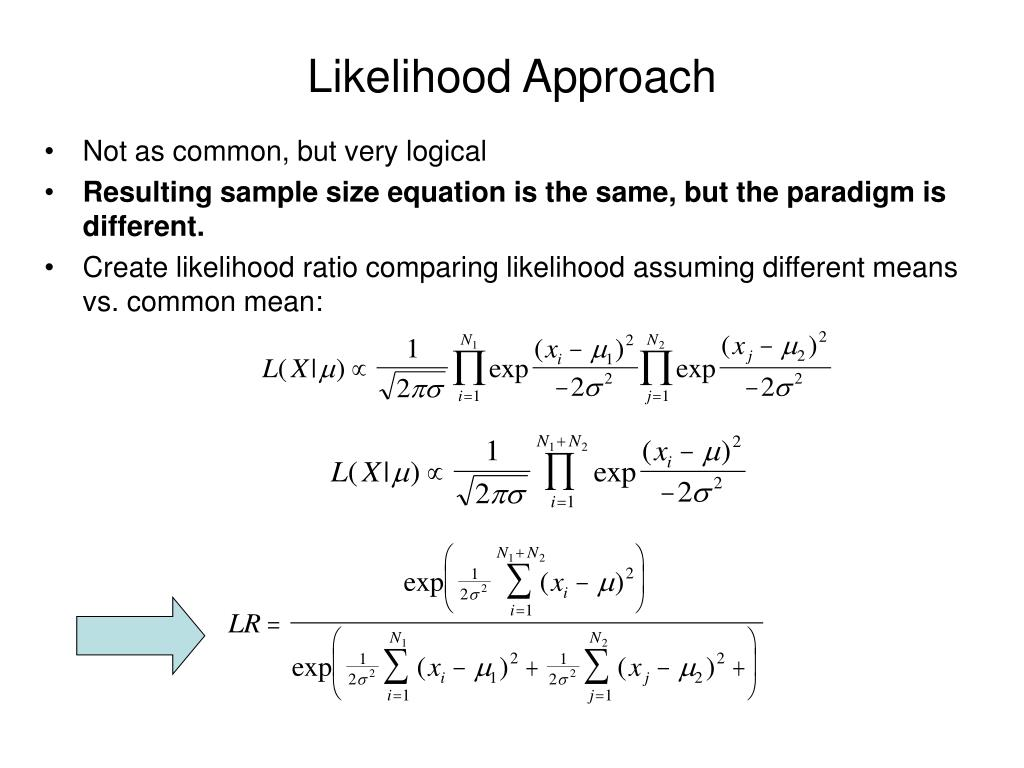 Likelihood Approach