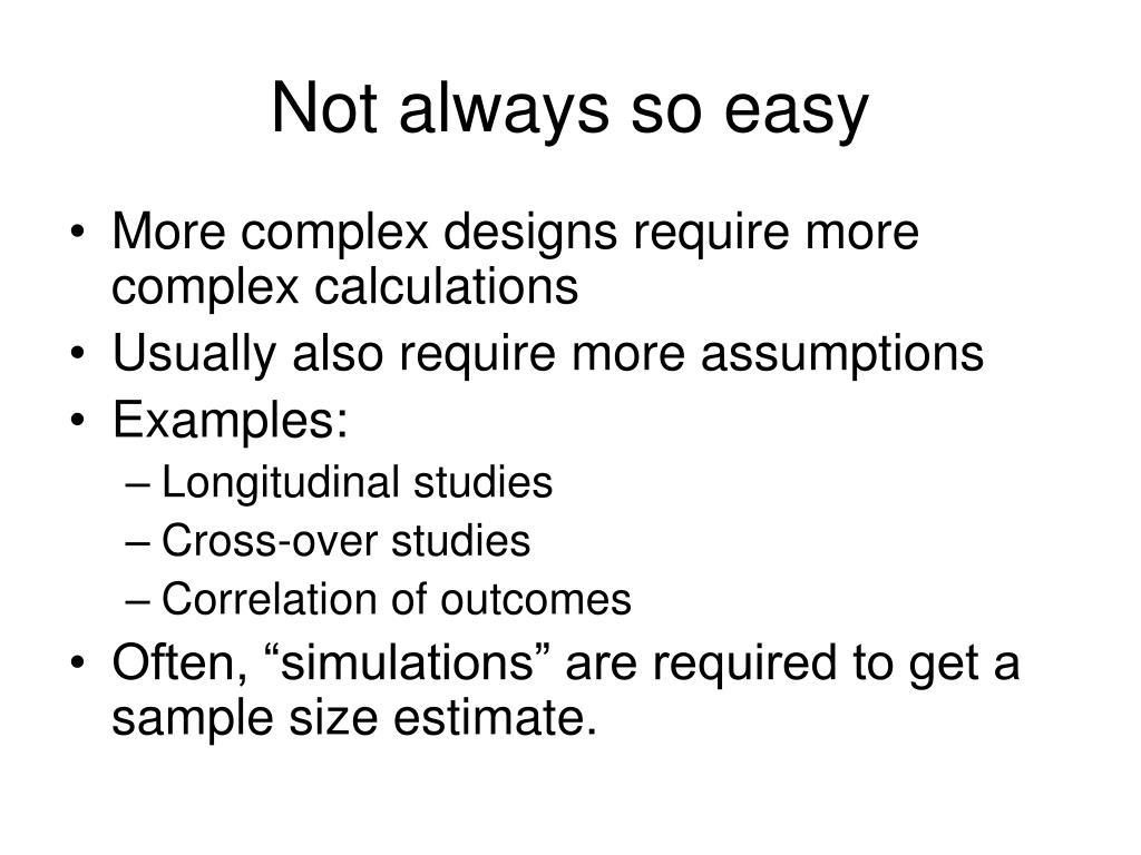 Not always so easy