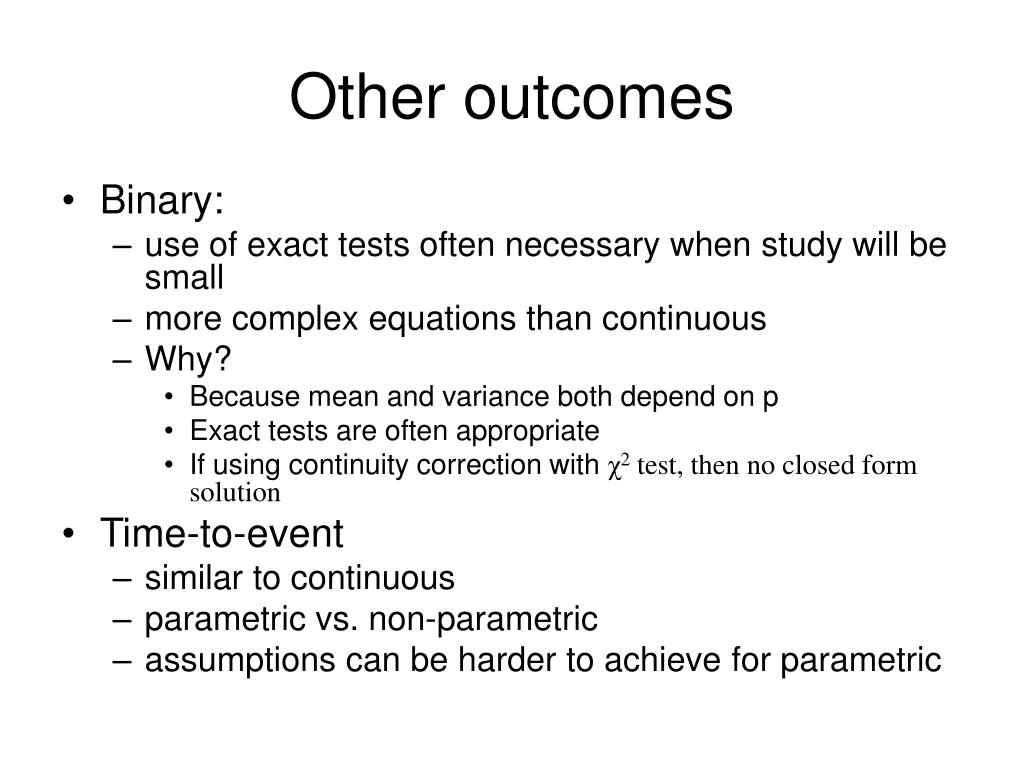 Other outcomes