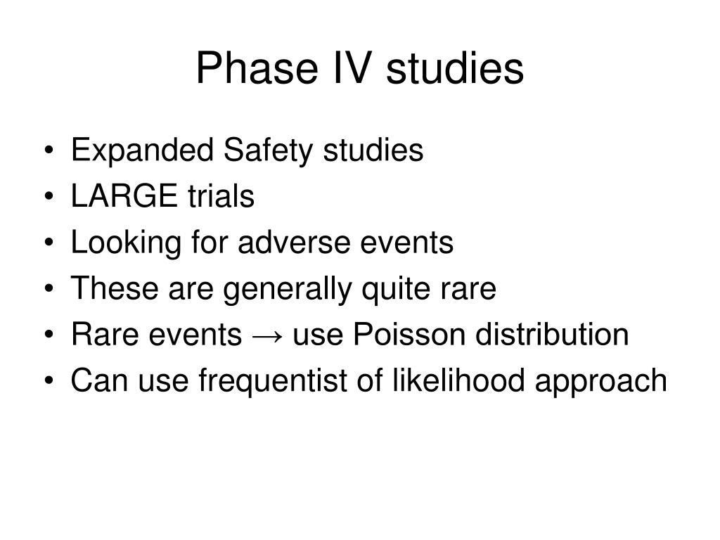 Phase IV studies