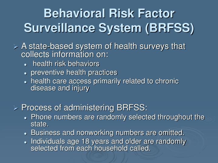 Behavioral Risk Factor Surveillance System (BRFSS)