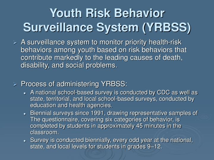 Youth Risk Behavior Surveillance System (YRBSS)
