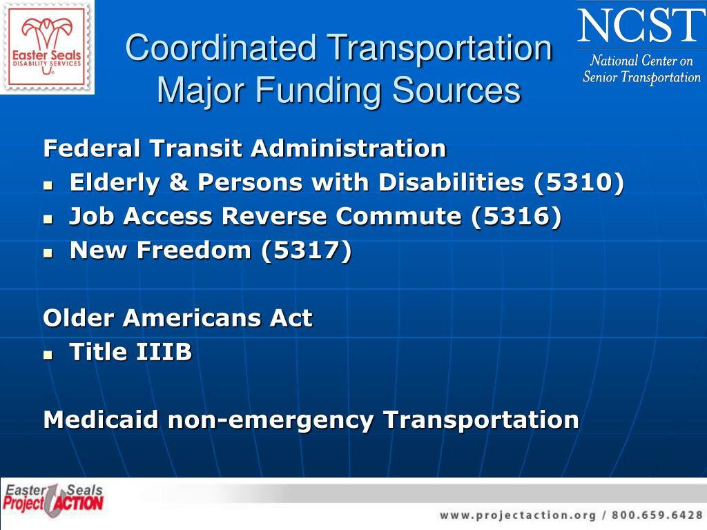 Coordinated Transportation