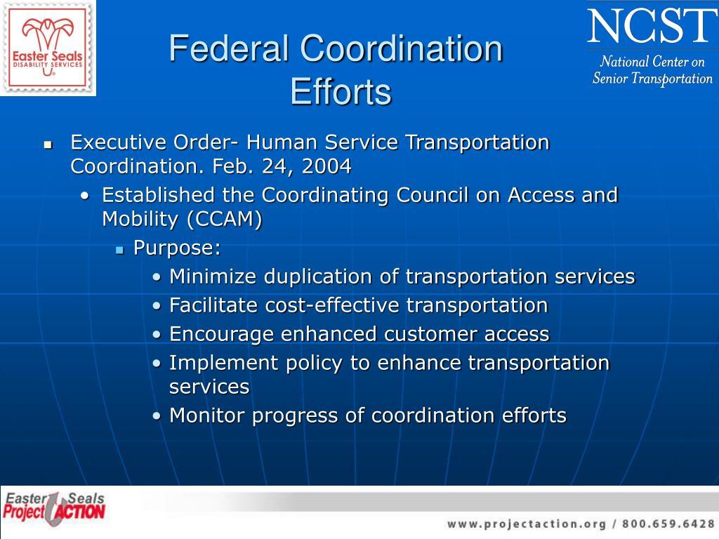 Federal Coordination