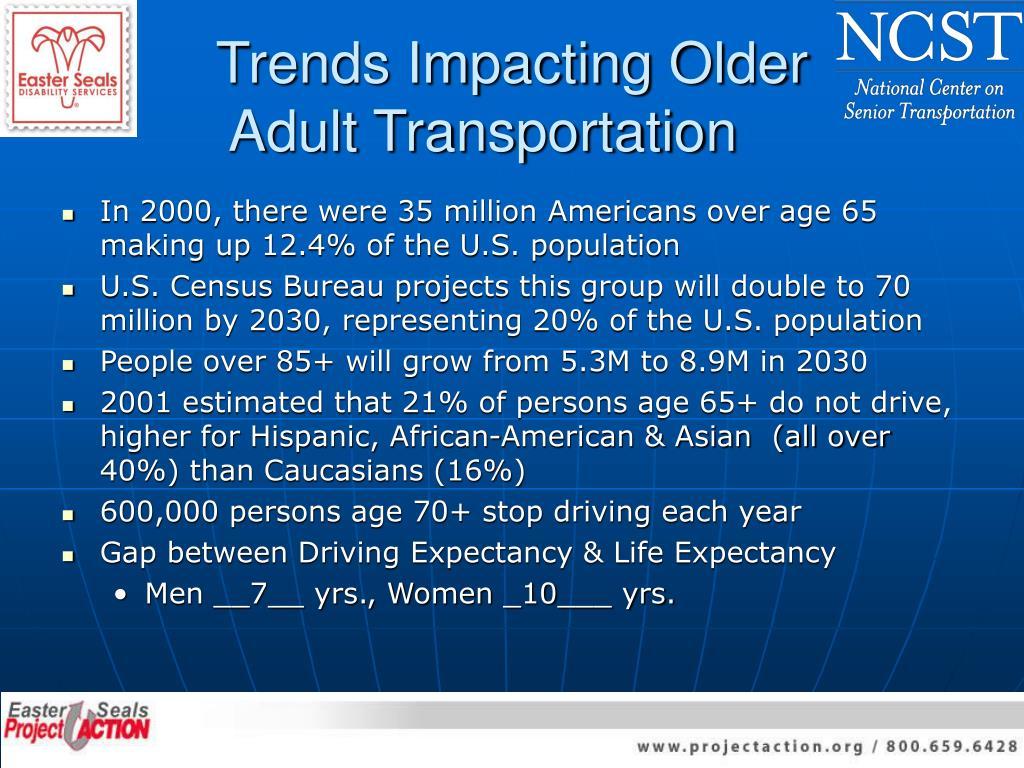 Trends Impacting Older
