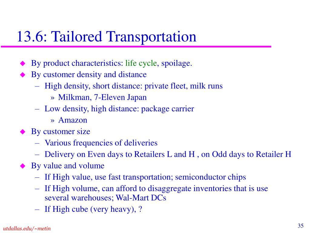 13.6: Tailored Transportation