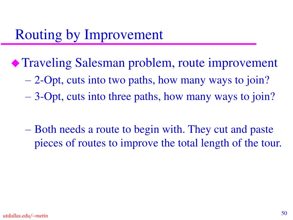Routing by Improvement