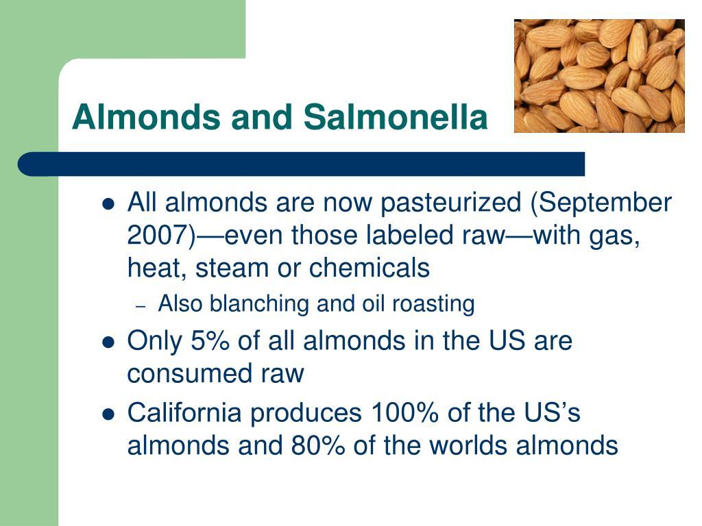 Almonds and Salmonella
