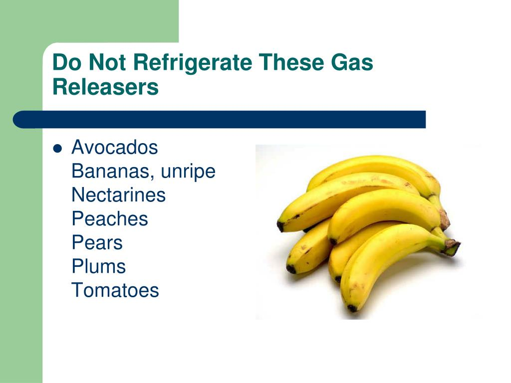 Do Not Refrigerate These Gas Releasers