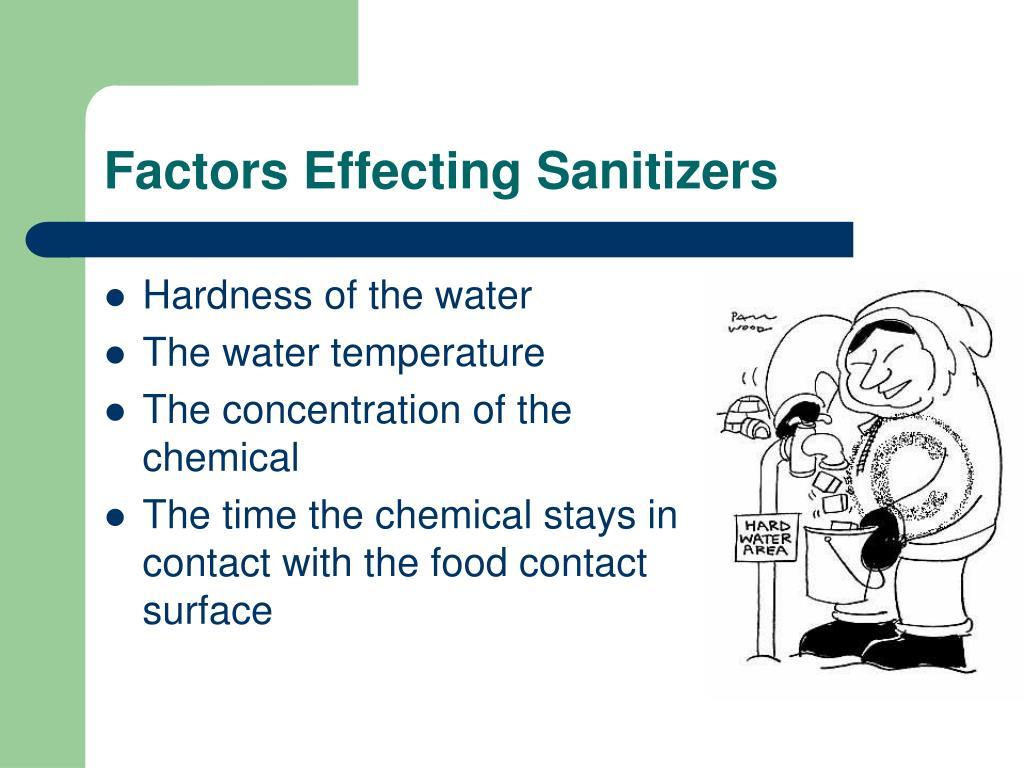 Factors Effecting Sanitizers