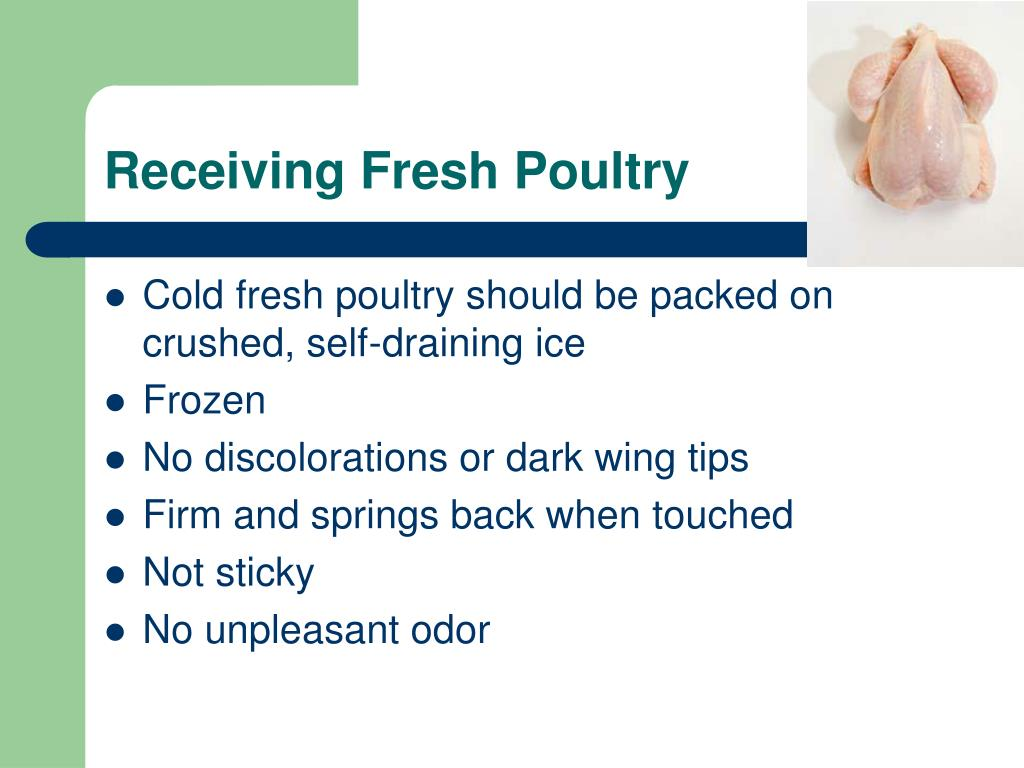 Receiving Fresh Poultry