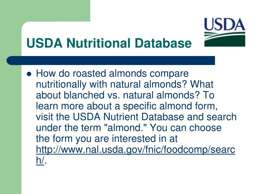 USDA Nutritional Database