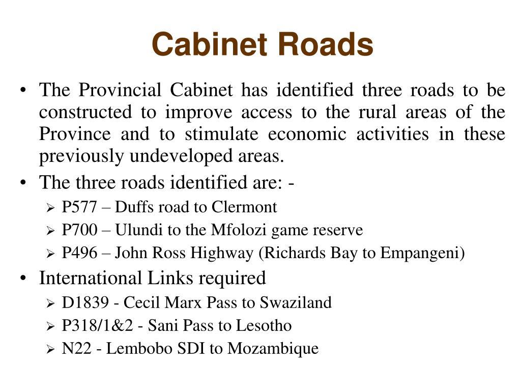 Cabinet Roads