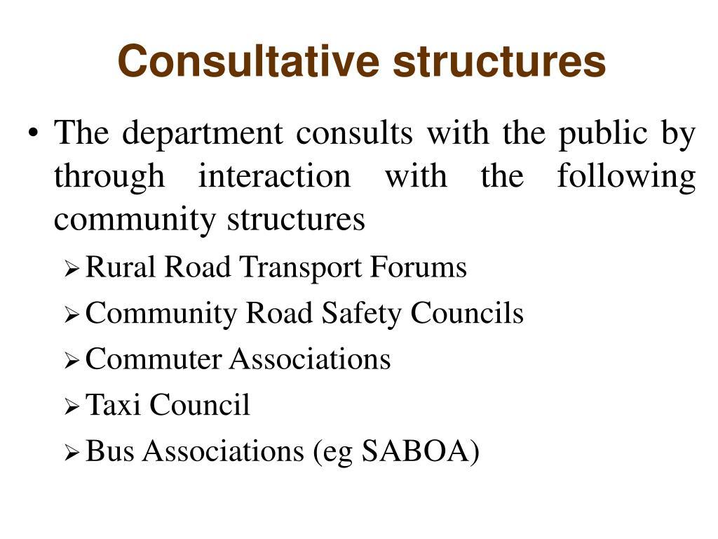 Consultative structures