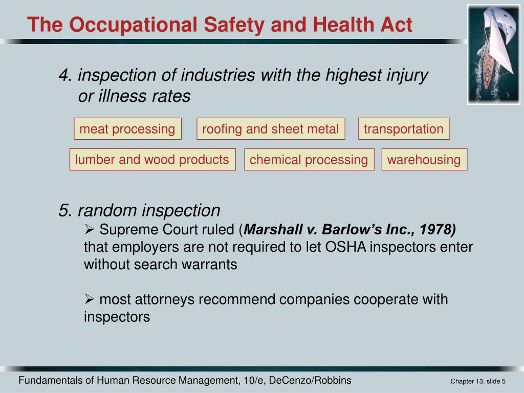 [Occupational Safety And Health Inspector] you suppose one