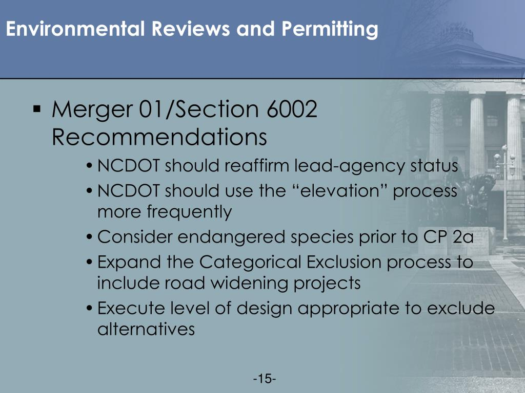 Environmental Reviews and Permitting