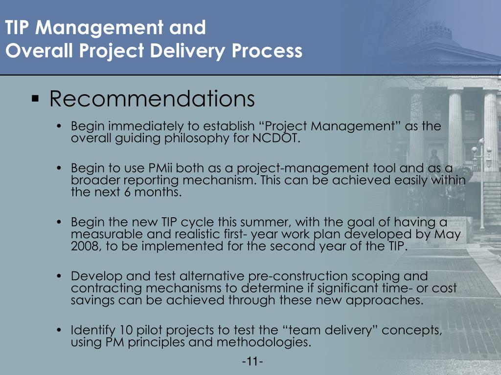 TIP Management and