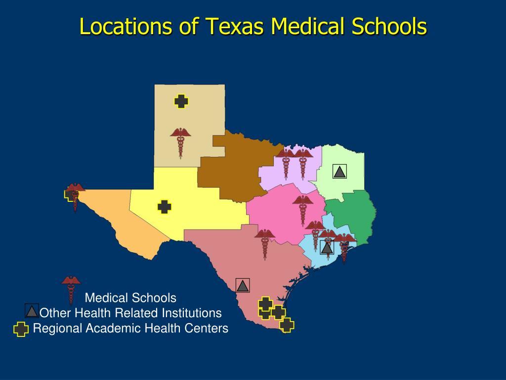 Locations of Texas Medical Schools