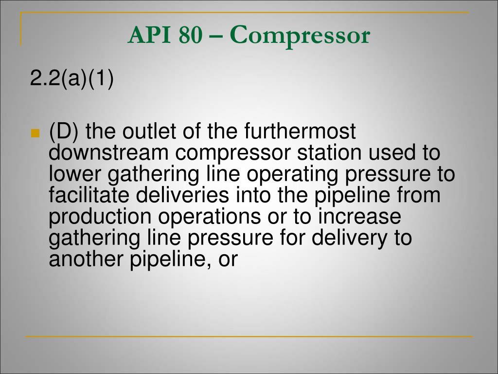 API 80 –