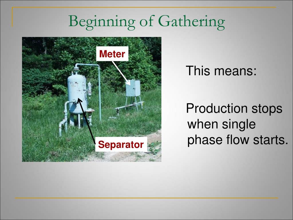 Beginning of Gathering