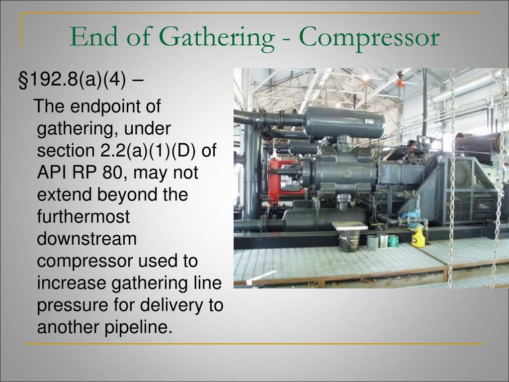 End of Gathering - Compressor
