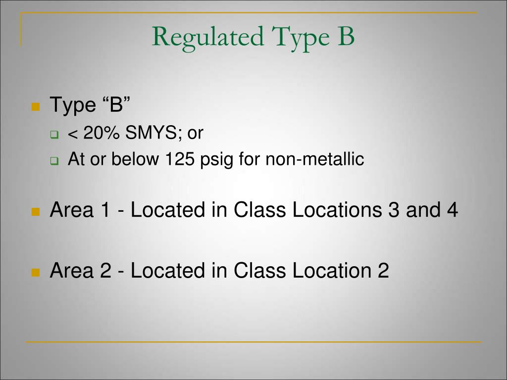 Regulated Type B