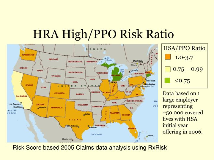 HRA High/PPO Risk Ratio