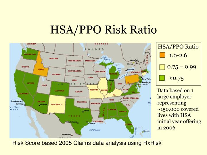 HSA/PPO Risk Ratio