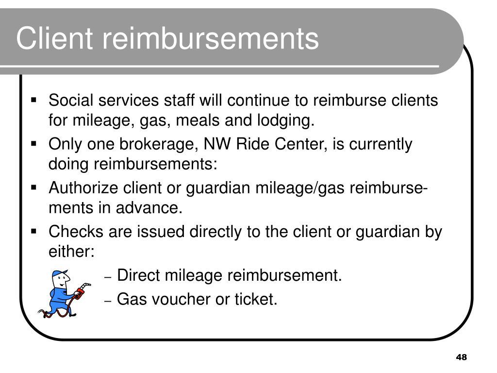 Client reimbursements