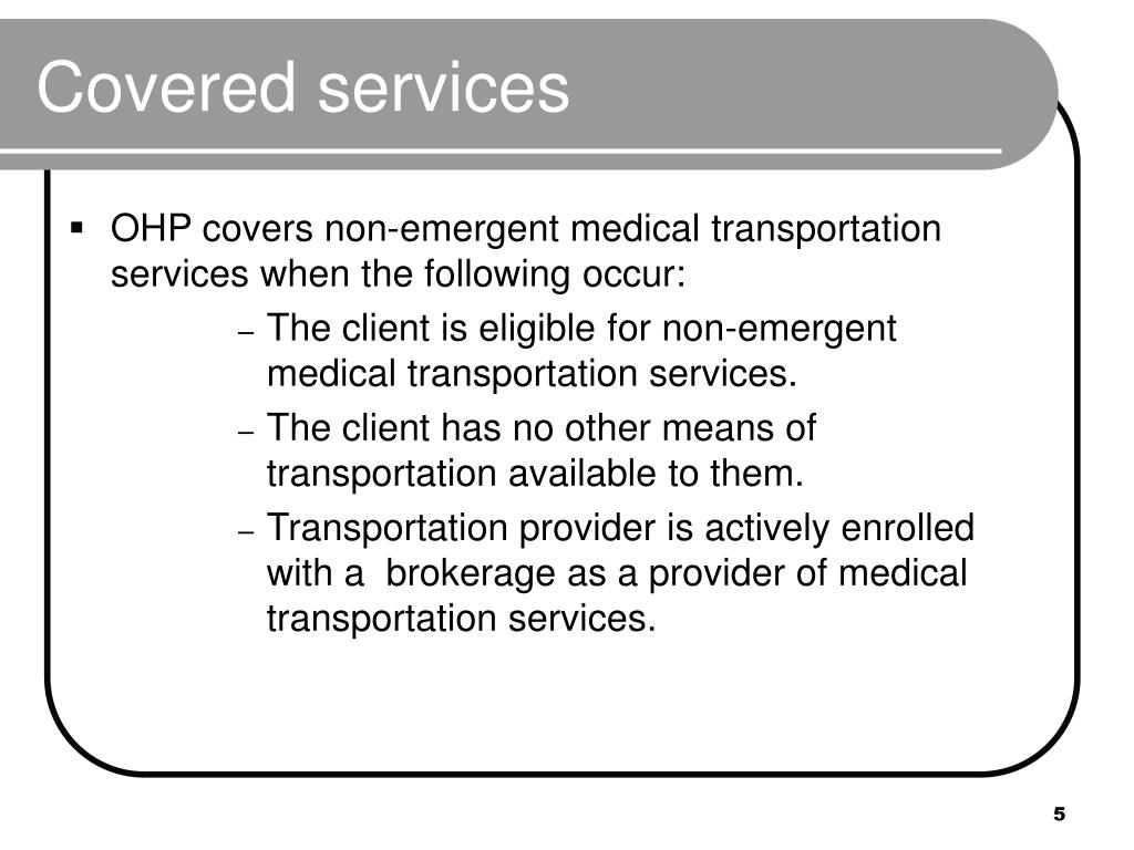 Covered services