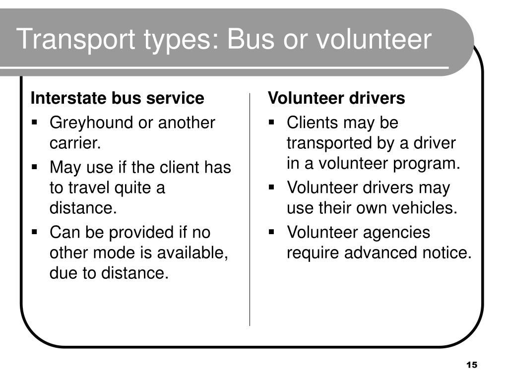Interstate bus service