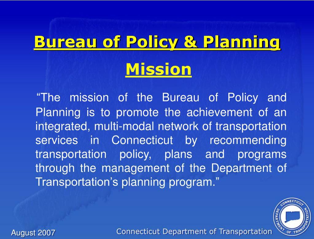 Bureau of Policy & Planning