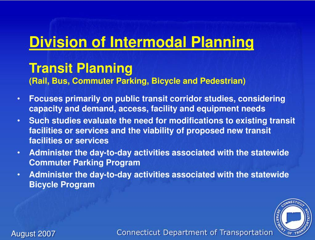Division of Intermodal Planning