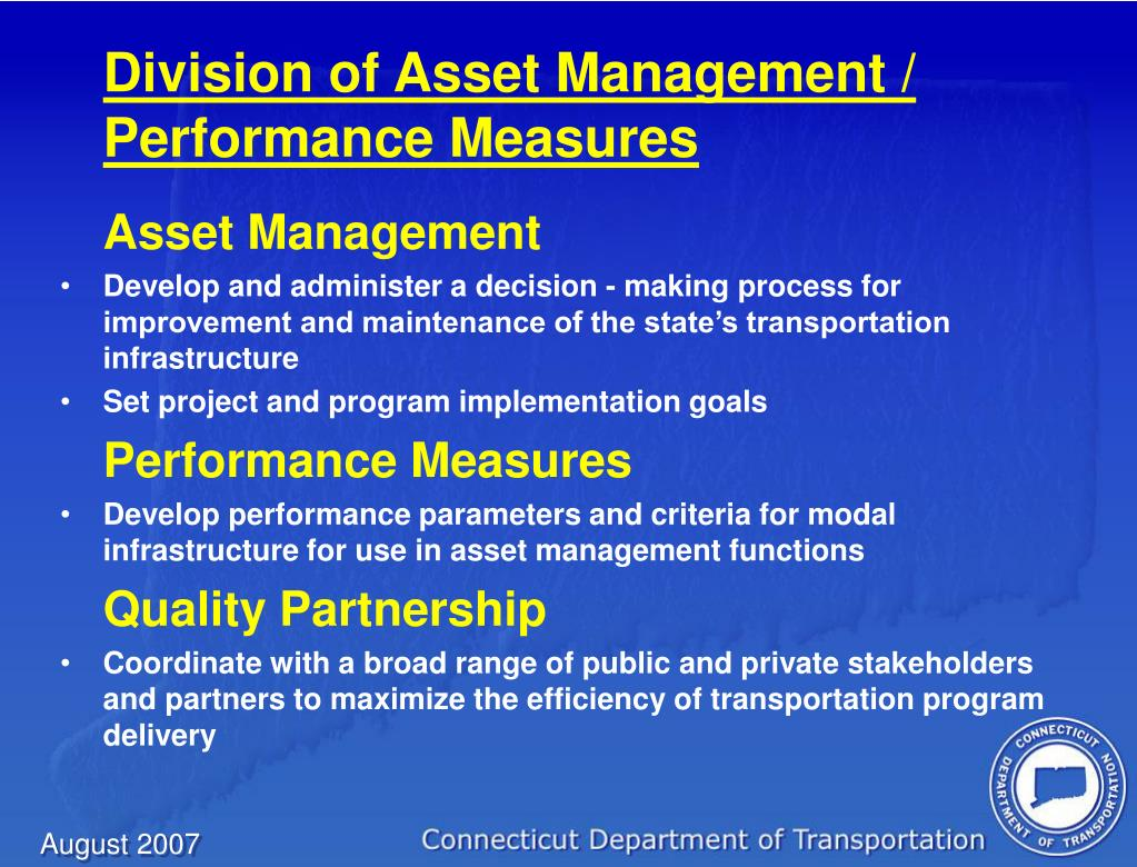 Division of Asset Management / Performance Measures
