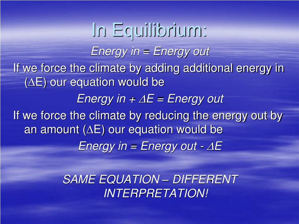 In Equilibrium: