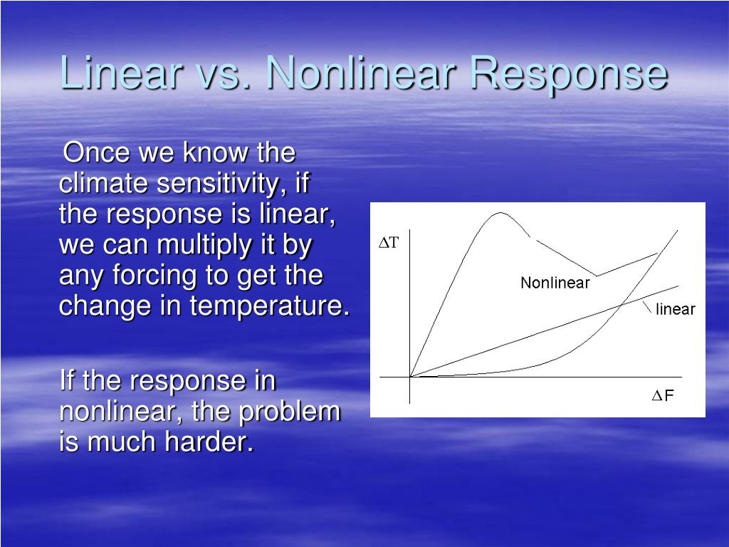 Linear vs. Nonlinear Response