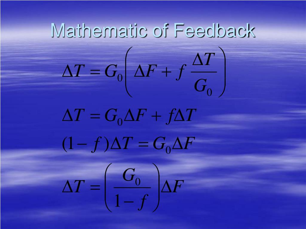 Mathematic of Feedback