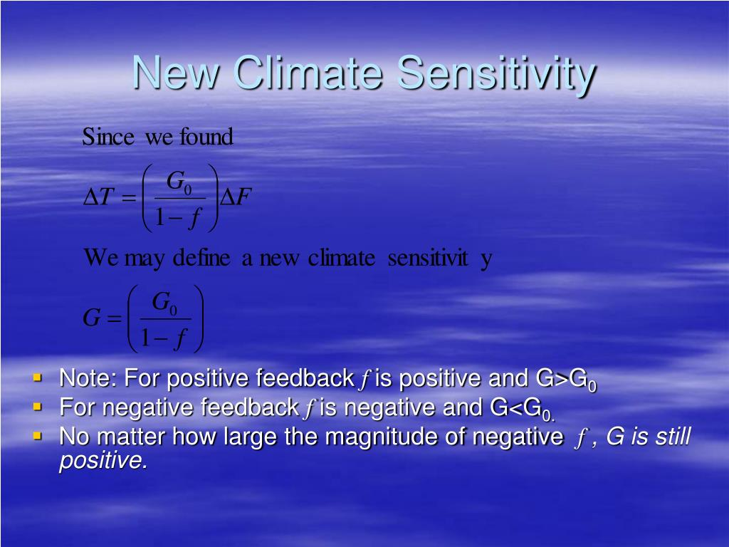 New Climate Sensitivity