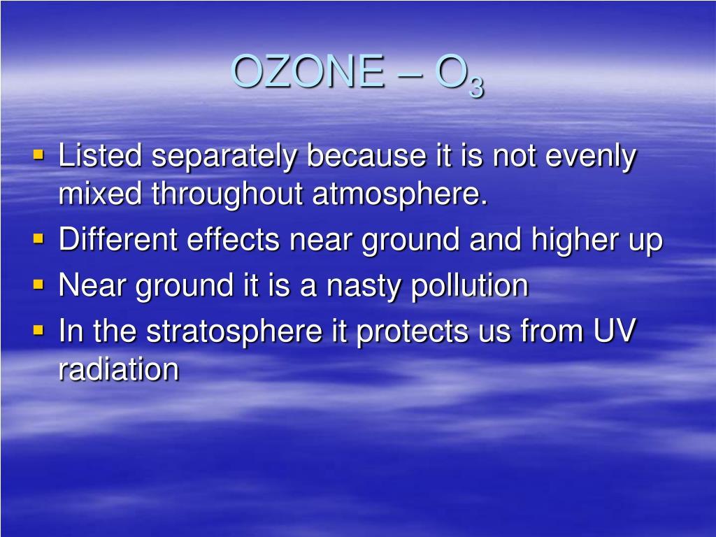 OZONE – O