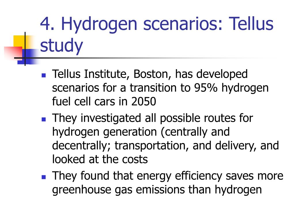 4. Hydrogen scenarios: Tellus study