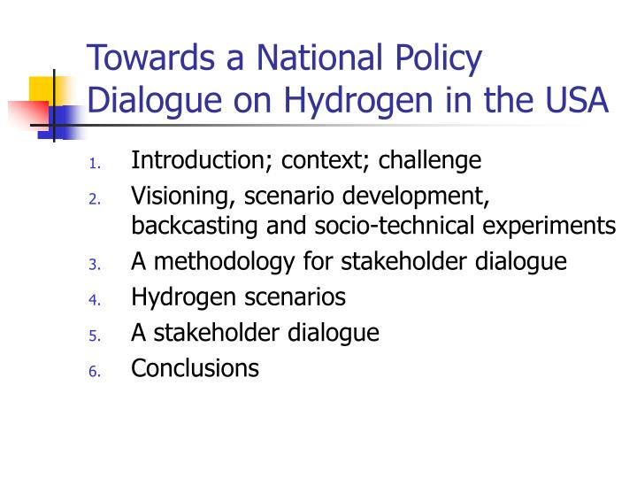 Towards a national policy dialogue on hydrogen in the usa3