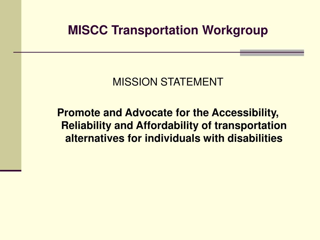 MISCC Transportation Workgroup
