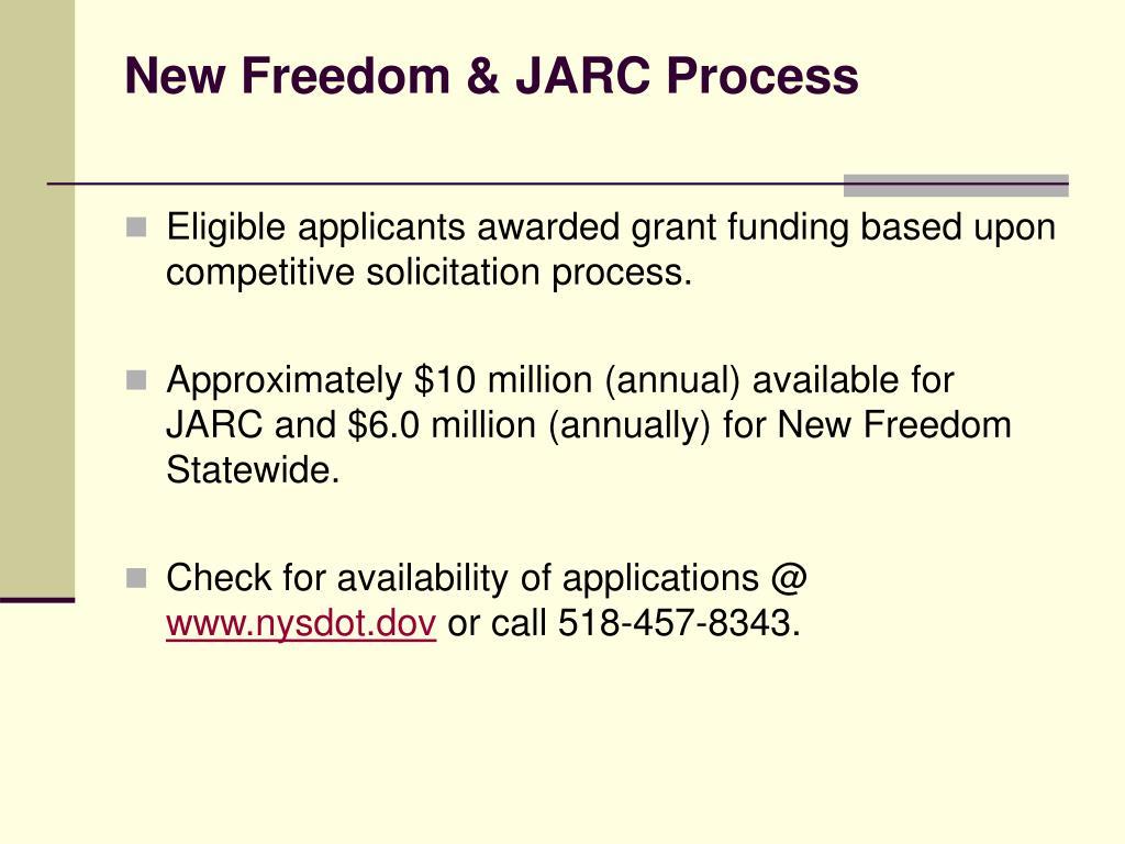 New Freedom & JARC Process