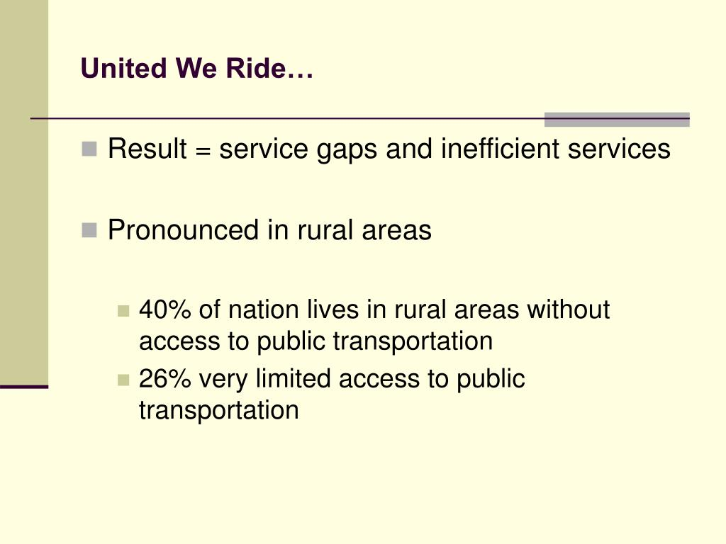 United We Ride…