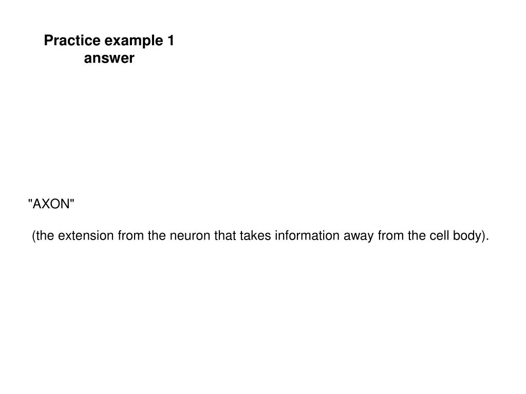 Practice example 1 answer