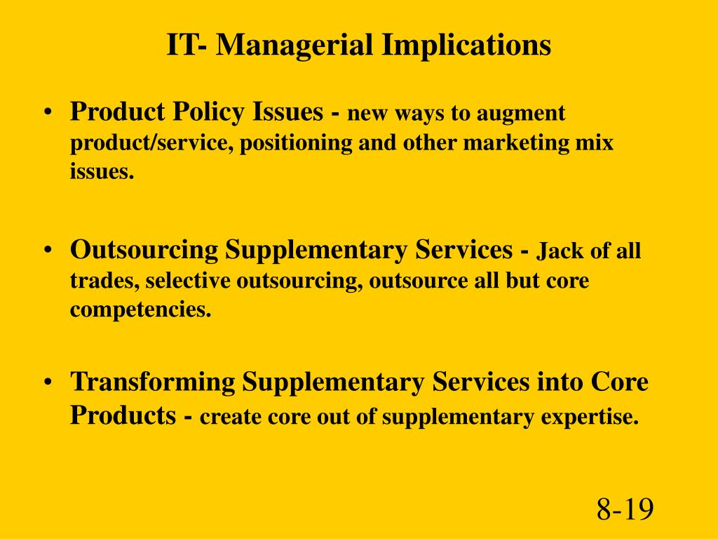 IT- Managerial Implications