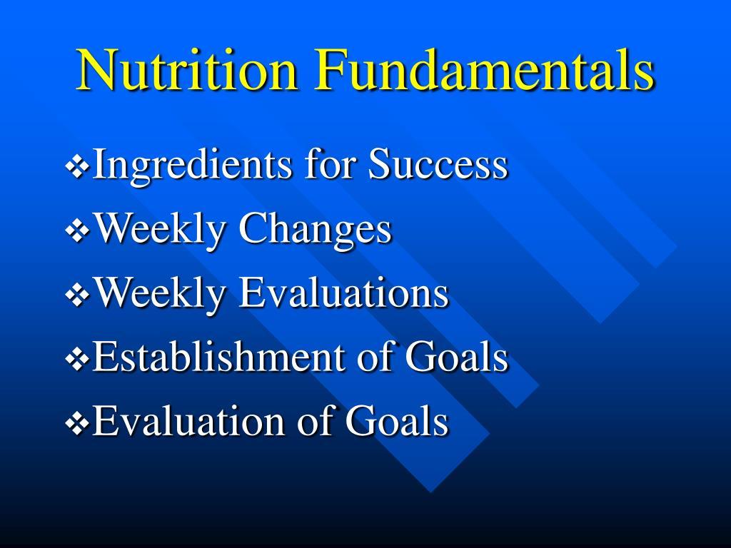 Nutrition Fundamentals