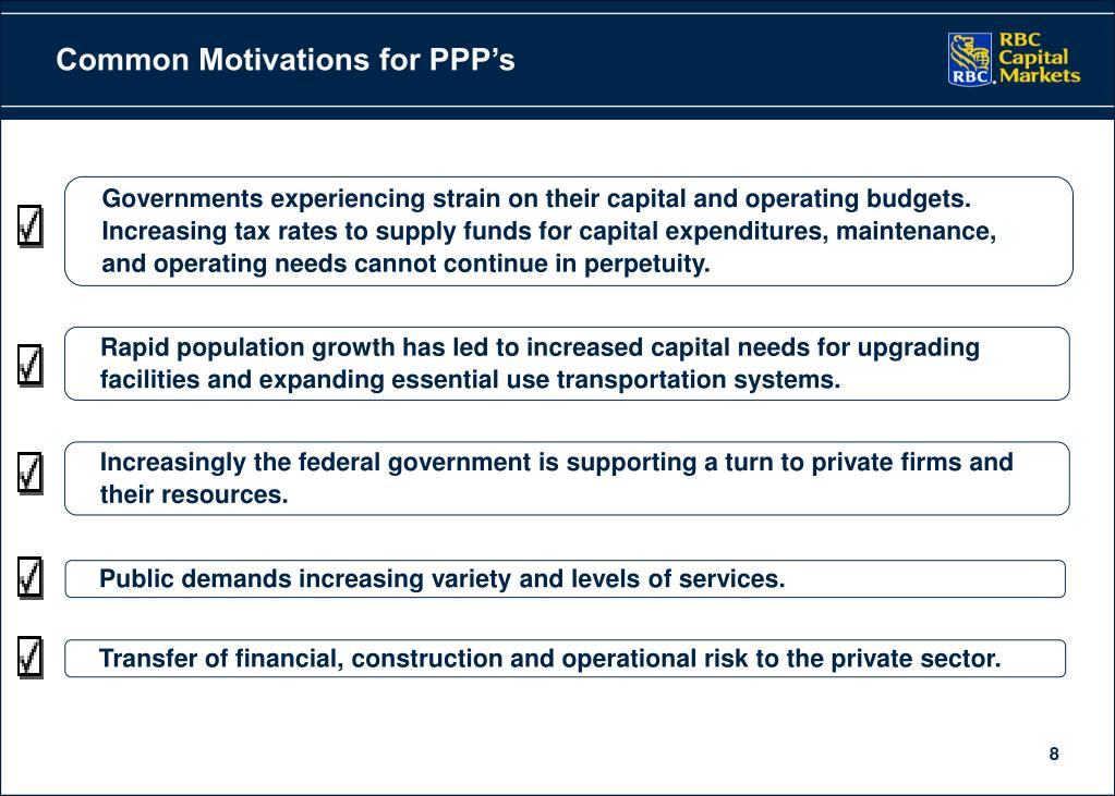 Common Motivations for PPP's