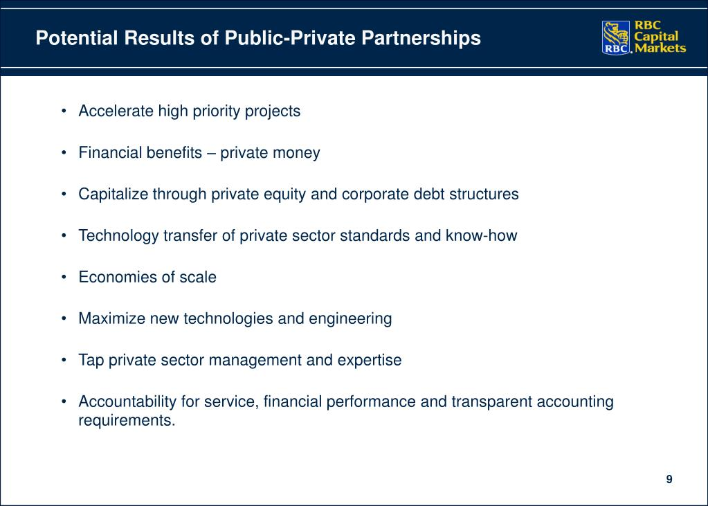Potential Results of Public-Private Partnerships